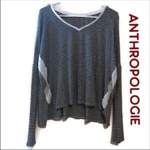 Anthropologie stripped long sleeve size Medium